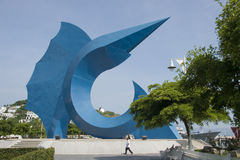 Sailfish sculpture. By Sebastian located in the historic centre of Manzanillo, state of Colima in Mexico Stock Photos