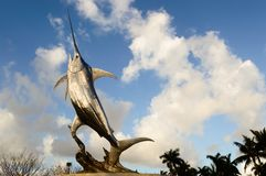 Sailfish statue. A statue of a sailfish jumping found in south florida Royalty Free Stock Images