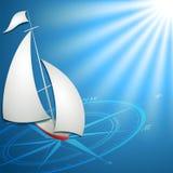 Sailfish z kompasem Ilustracja Wektor