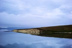 Sailimu lake Royalty Free Stock Photography
