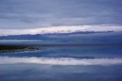 Sailimu lake Royalty Free Stock Images