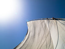 sailing реки Нила felucca шлюпки Стоковые Изображения