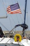 sailing флага поединка стоковые фотографии rf
