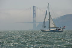 Sailing Golden Gate Stock Photography