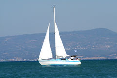 Sailing. In race Royalty Free Stock Photos