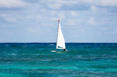 Sailing. In the ocean at Dominican Republic royalty free stock image
