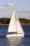 Sailing. A beautiful day for sailing on the boat Stock Image