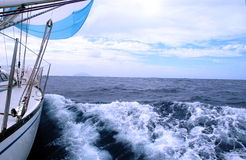 Sailing. In Atlantic Royalty Free Stock Photography