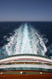 Sailing. On a cruise ship on the open sea Royalty Free Stock Images