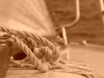 Sailing. Bow of sailing vessel at sea Royalty Free Stock Images