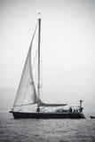 Sailing. Sailboat sailing waters of Galicia, Spain Stock Images