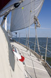 Sailing. A beautifull sailboat with blue sky Stock Photography