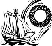 Sailing иллюстрация вектора