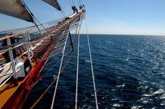 Sailing. Training ship in Atlantic ocean Stock Image