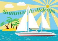 sailing vector illustratie