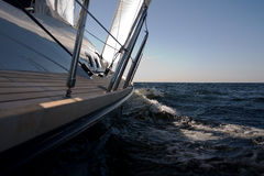 Sailing. By the yacht at baltic sea Royalty Free Stock Images