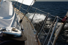 Sailing. By the yacht on baltic sea Stock Photos