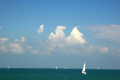 Sailing. Boat Stock Images