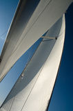 Sailing. Under sail on the yacht Stock Photography