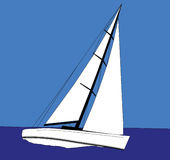 Sailing. Sail boat sailing Stock Images