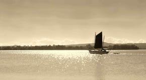 Sailing. Sailboat on the ocean royalty free stock photos