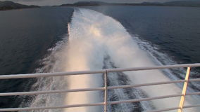 Sailing across the fjords in Norway stock video footage
