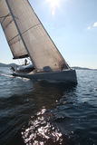 Sailing on the Adriatic Sea. Modern yacht stock images