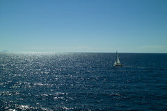 Sailing in the Adriatic sea Royalty Free Stock Photography