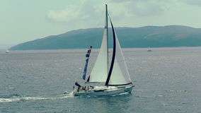 Sailing on the Adriatic Sea stock footage