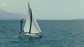 Sailing on the Adriatic Sea stock video