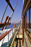 Sailing in the Aegean sea. Sailing traditional in the Aegean sea royalty free stock images