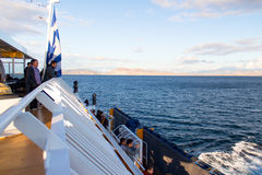 The sailing on the Aegean sea Stock Images