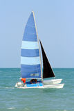 Sailing Alone 2 Royalty Free Stock Photography