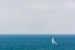 Sailing alone II royalty free stock images