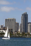 Sailing Along The Waterfront in San Diego royalty free stock photo