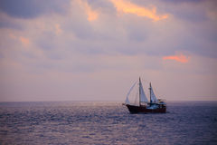 Sailing in the Andaman Sea Royalty Free Stock Photos