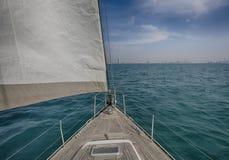Sailing in the Arabian Gulf near Dubai Stock Photos