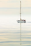 Sailing in the arctic sea Royalty Free Stock Image