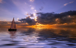 Free Sailing At Sunset Royalty Free Stock Photo - 887975
