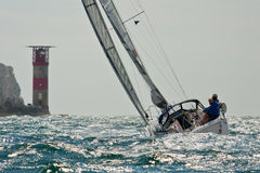 Free Sailing At The Needles Royalty Free Stock Photos - 15540238