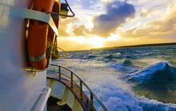 Sailing in the Atlantic ocean Royalty Free Stock Photo