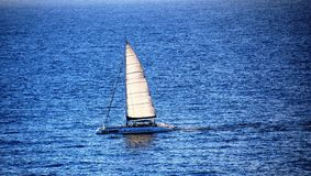 Catamaran trip on the atlantic ocean royalty free stock photo