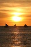 Sailing away Royalty Free Stock Image