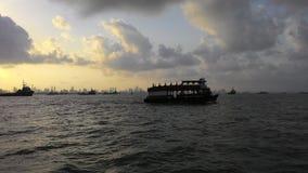 Sailing away in the sea Stock Photo