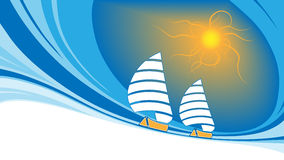 Sailing background Royalty Free Stock Photos