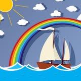 Sailing background card Royalty Free Stock Photo