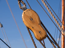 Sailing background sails ropes pulley Royalty Free Stock Image