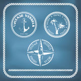 Sailing badges with anchor Stock Photography