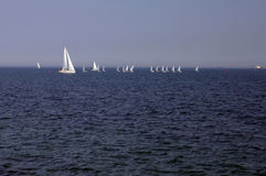 Sailing on Baltic sea Stock Photo
