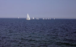 Sailing on Baltic sea Stock Photos